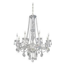 Schonbek chandeliers houzz schonbek schonbek lighting 1305 40h arlington silver 8 light chandelier chandeliers aloadofball Choice Image