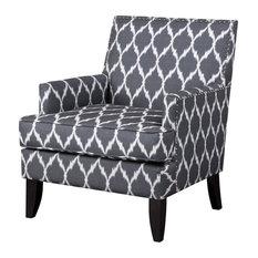 Madison Park Colton Track Arm Club Chair, Gray/White