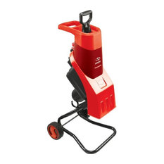 Sun Joe CJ602E-RED Electric Wood Chipper, 16:1 Reduction 15 Amp, Red