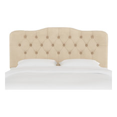 Aaron Twin Tufted Headboard Velvet Pearl