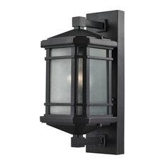 Lowell 1-Light Medium Outdoor Sconce, Matte Black