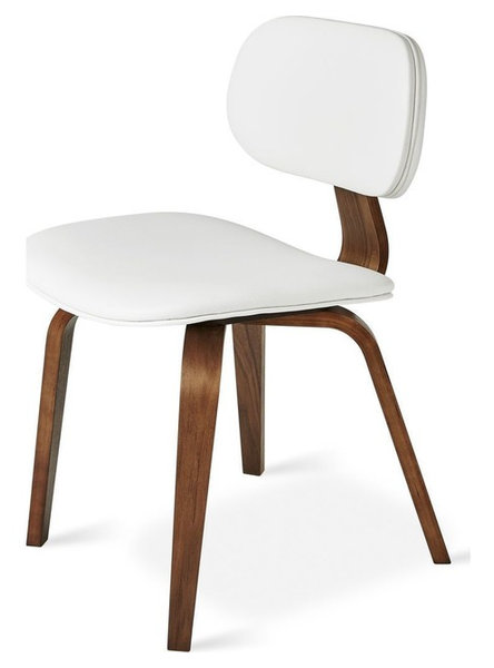 Incroyable Gus Modern Thompson Chair, Walnut/White