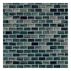 Blue Cotton Ice Glass 1.25X0.6X6Mm In 12X12 Mesh, Glass Mosaics,