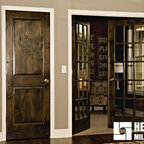 Knotty Alder Stained Dark with White Trim - Home Office ...