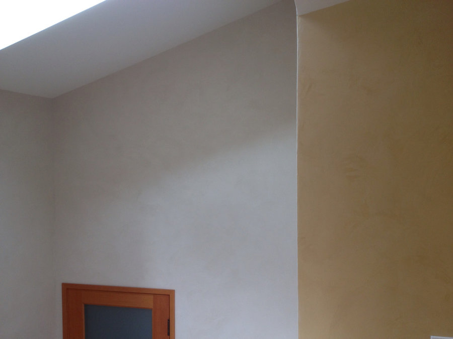 Stairwell with plaster walls