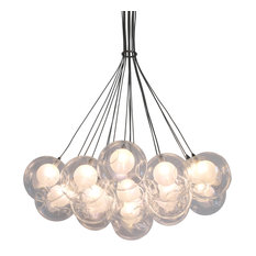 Ara 19 Light Glass Sphere Round LED Chandelier