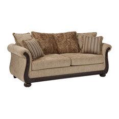 coaster fine furniture coaster fabric sofa with coffee and cocoa sofas