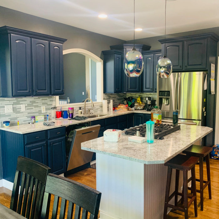 Successfully completed! Two tone kitchen cabinets!!!