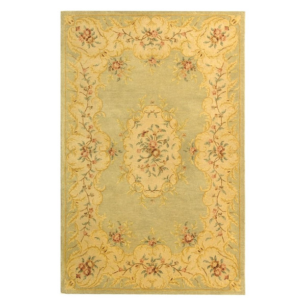 Light Green/Beige Rug, 9'6