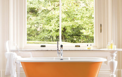 2012 Color: A Splash of Orange for Kitchen and Bath