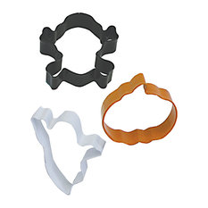 3-PieceHalloween Cookie Cutter Set With Bag