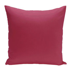 "Solid Decorative Pillow, Lipstick, 16""x16"""