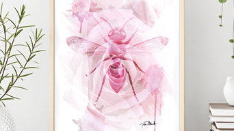 Poster Insekt på ros