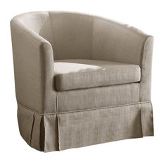 Clifford Barrel Chair, Beige