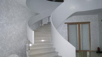 Лестница из Кориана в частных апартаментах