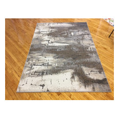 "Rainier Rug, Cream and Gray, 7'10"" X 9'10"""