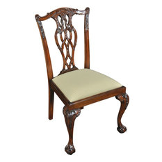 Side Chair Dining DEVON Pair Solid Mahogany