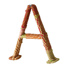 """Colorful Jute Wrapped 12"""" Letter, A"""