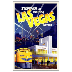 Fancy Contemporary Artwork Las Vegas Giclee Repoduction Canvas Wall Art