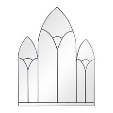 Gothic Arches Original Handcrafted Window Mirror, 90x78 cm