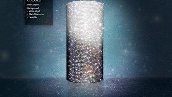 "Vase with crystall decor ""Dark&White"""