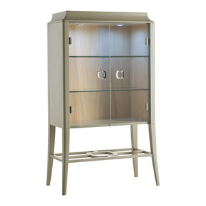 2-Doored Cabinet With Tempered Glass, Small
