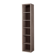 Denno Truffle Oak Bookcase, Narrow