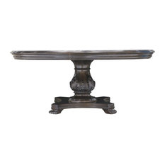 """A.R.T. Home Furnishings Continental Round Dining Table, Weathered Nutmeg, 66"""""""