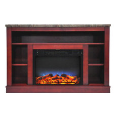 47.2-inchx15.7-inchx32.5-inch Seville Fireplace Mantel With LED Insert