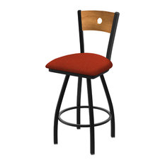 830 Voltaire 36-inch Swivel Counter Stool Medium Back And Graph Poppy Seat