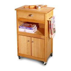 Cuisine Cart Wheeled Kitchen Cabinet w Drawer