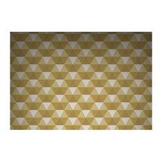 FEATHR - Crystal Trompe l'Oeil Wallpaper, Yellow - Wallpaper