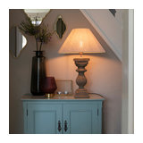 Country table lamp with linen shade beige 50 cm - Hyssop
