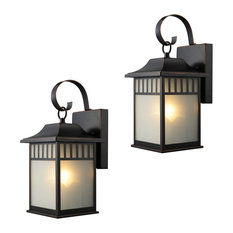 Door Corner - Oil Rubbed Bronze Outdoor Patio/Porch Exterior Light Fixtures, Set of 2 - Outdoor Wall Lights and Sconces