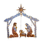"72"" Nativity Scene With Clear Lights"