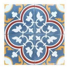 Roseton C Cement Tile, Sample