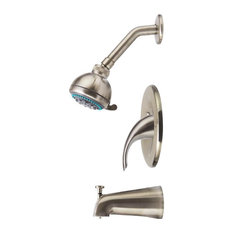 3-Piece Shower Set, Brushed Nickel