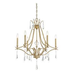 Laurel Estate 6-Light Chandelier, Brio Gold