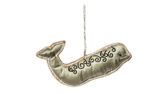 Handcrafted Zardozi Ornament - Whale