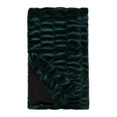 "Faux Fur Throw, Emerald Mink, 60""x72"""