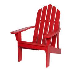 Shine Company Marina II Adirondack Chair With Hydro-Tex Finish, Chili Red