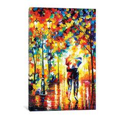 """Under One Umbrella Gallery"" by Leonid Afremov, 18x12x0.75"""