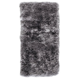 New Zealand Sheepskin Rug, 70x140 cm, Grey
