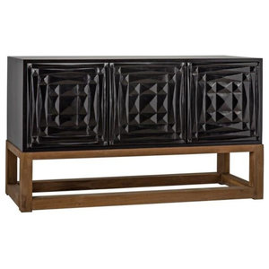 Matillo Sideboard, Hand Rubbed Black & Teak
