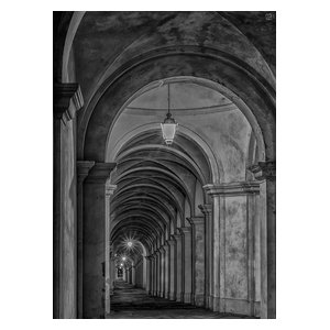 Black and White Gallery Wallpaper, Adhesive Paper, 270x400 cm