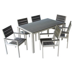 Contemporary Outdoor Dining Sets by M&E Sales