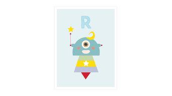 """Rob the Robot"" Decorative Print, A2"