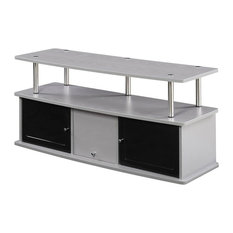 Designs2Go TV Stand With 3-Cabinet, Gray