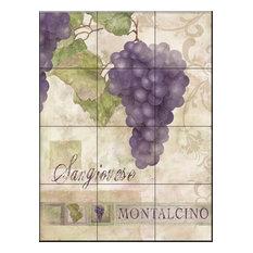 Tile Mural Montalcino Sangiovese 2 - MT Kitchen Backsplash Ideas, 32.4x43.2 cm