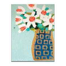 Blue And Gold Pot, Canvas Print